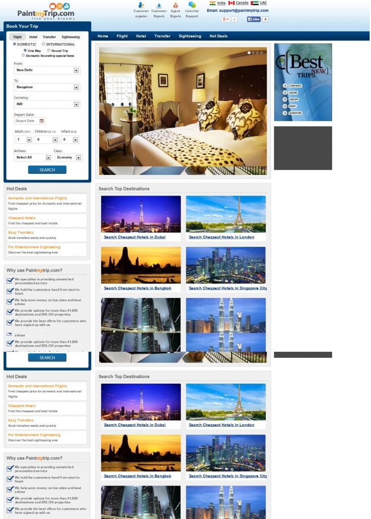 Hotel central reservation system its features provab for Central reservation hotel